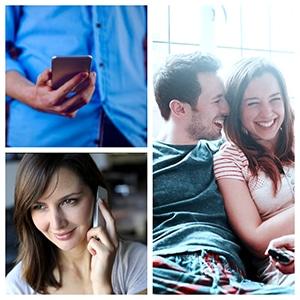Donna e uomo al telefono